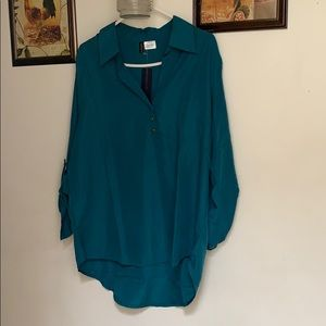 NEW WITH TAGS TURQUOISE WITH GOLD BUTTONS 👕SHIRT